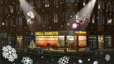 3DCG壁紙 Hell Donutsクリスマス2019
