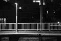 0111大蔵谷駅夜景モノクロ