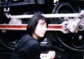 機関車と女性イメージ