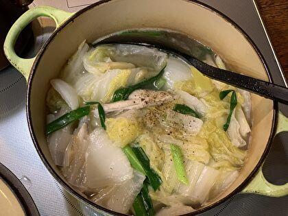 手羽中と白菜のスープ