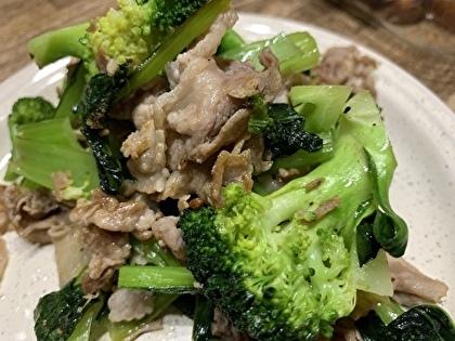 豚肉とブロッコリーのマキシマム炒め