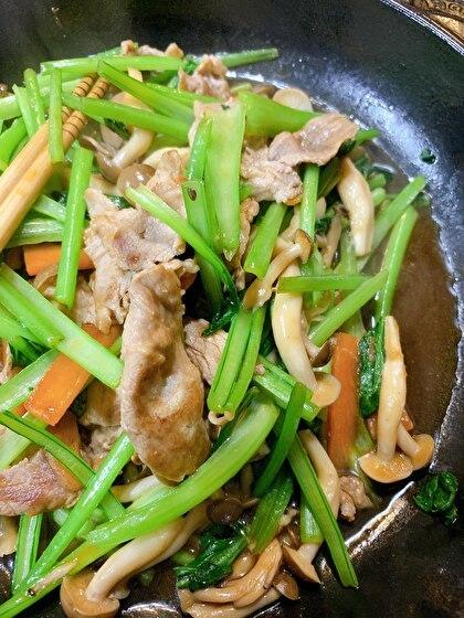 小松菜のオイスターソース炒め