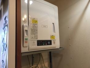 「縦型洗濯機」と「衣類乾燥機」のハイブリッドな組み合わせ!乾燥しながら次の洗濯ができる!乾燥機がトラブっても、洗濯には影響を与えない。