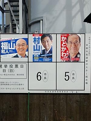 京都市長選選挙ポスター2002