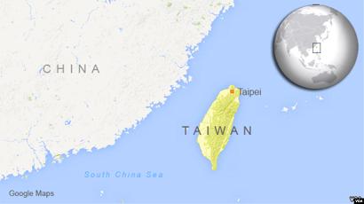 グーグル台湾中国地図