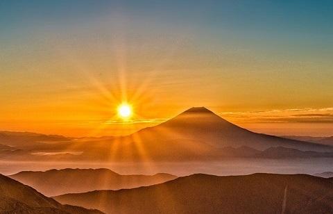 200110 富士と太陽