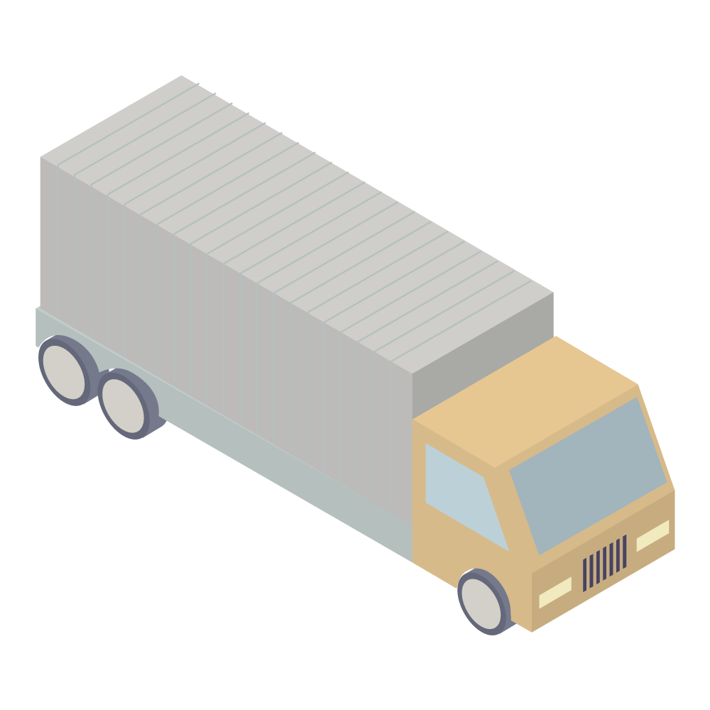 かわいいおしゃれなアイソメトリックのLarge truckアイコン