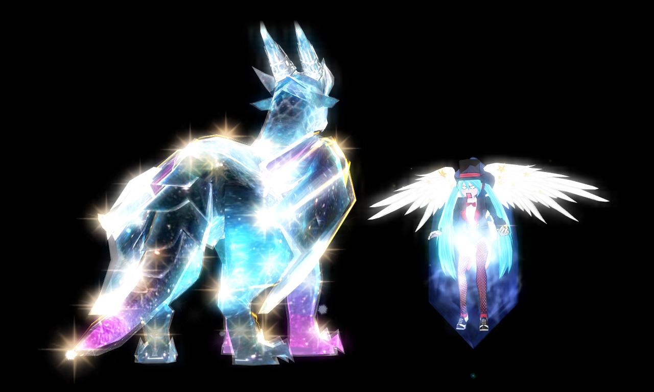 星の光を宿したアイスドラゴン6