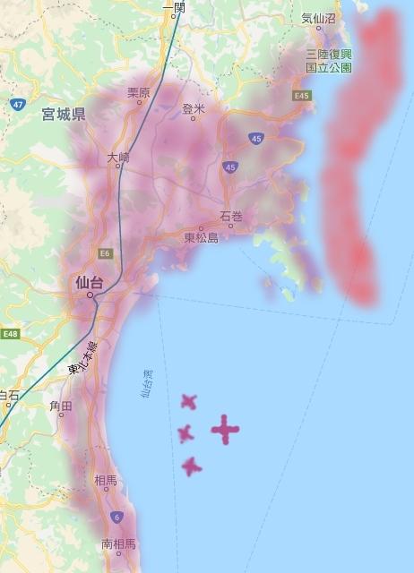 宮城ー福島地図