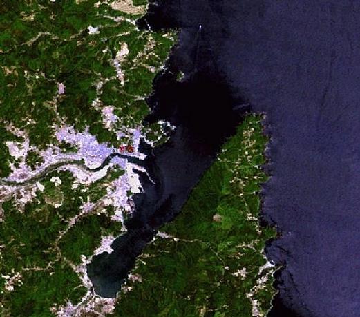 宮古衛星地図