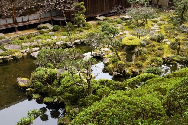 當麻寺西南院庭園・鶴出島と亀出島