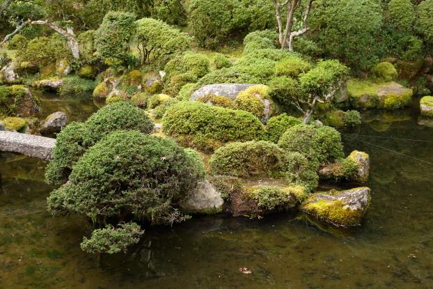 當麻寺西南院庭園・亀出島