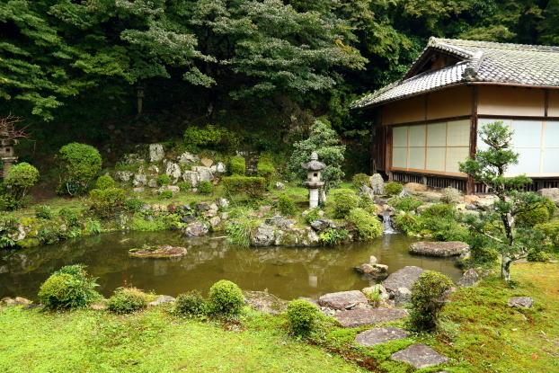 西教寺客殿庭園・全景