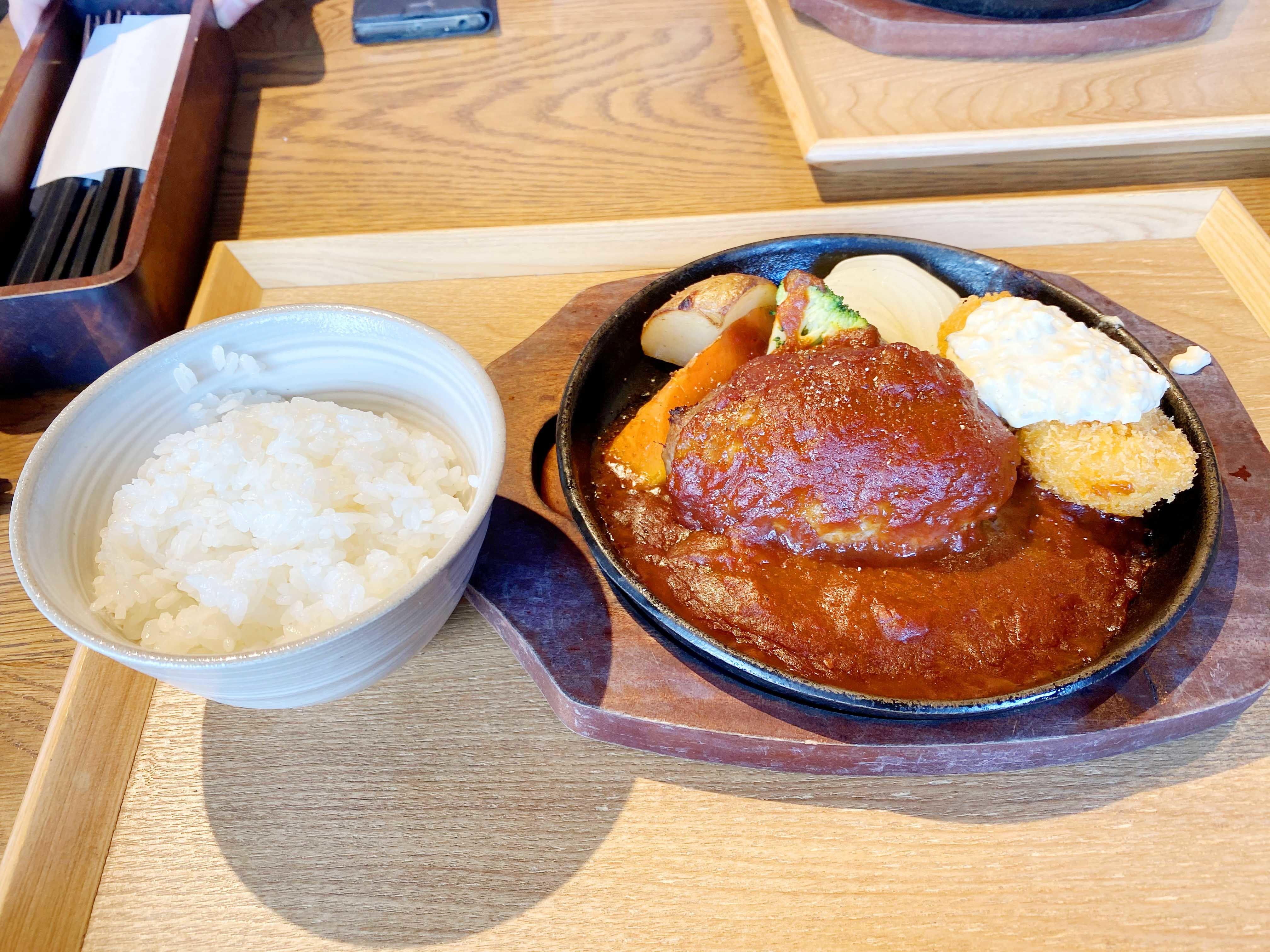 窯焼きハンバーグ&カニクリームコロッケ 1380円