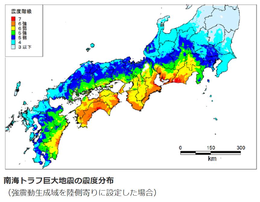 南海トラフ 震度分布 気象庁