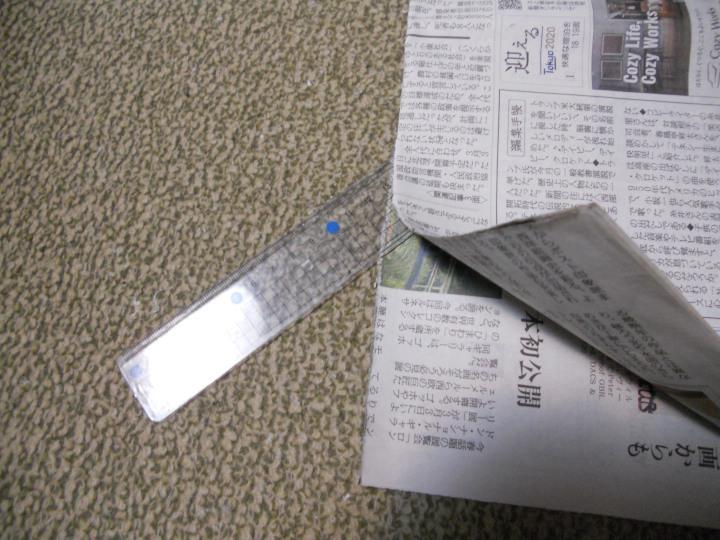 トイレットペーパー(ティッシュ)は新聞で代用、切り方
