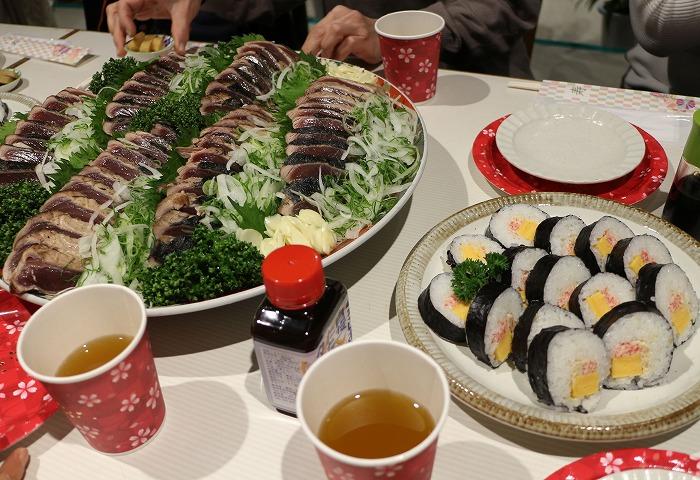 皿鉢料理 カツオのたたき 1 12 22