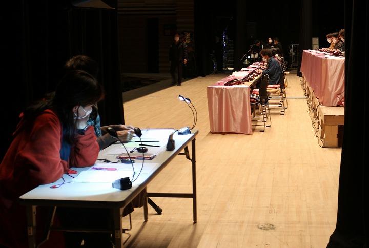 大正琴リハーサル 舞台横上手から 2 2 29