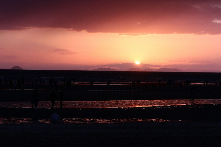 夕陽沈む 父母ヶ浜 2 3 14