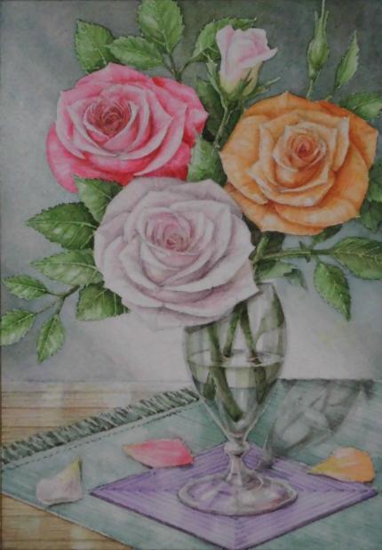 3色のバラ 2004