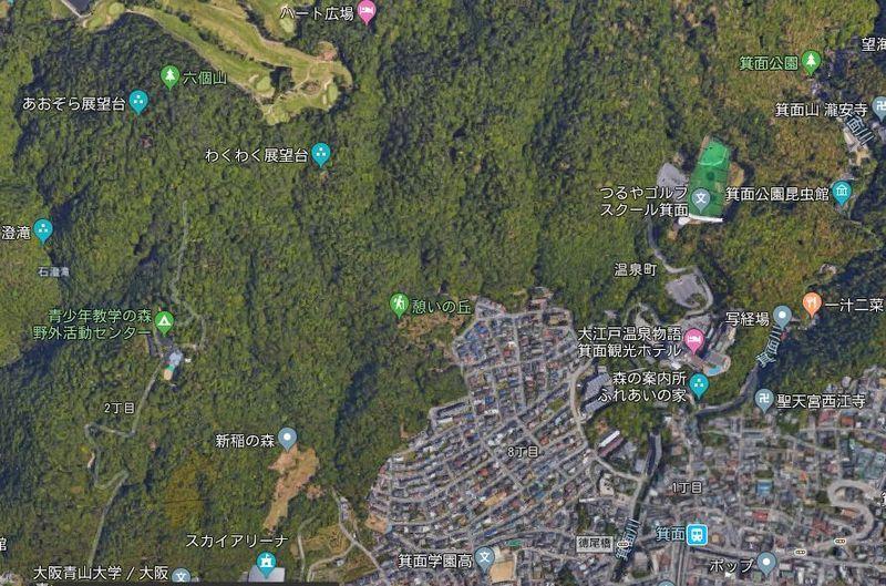 地図 憩いの丘 わくわく展望台