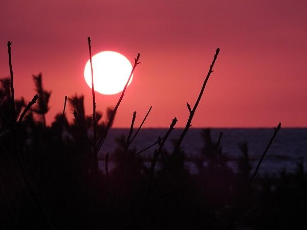 20191231日本海に沈む夕陽10月