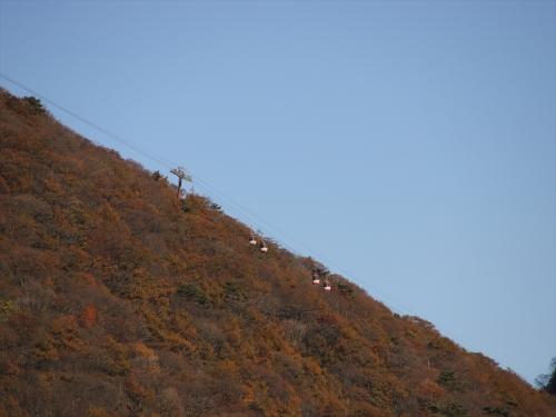 榛名湖から榛名富士を見る