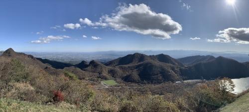 榛名富士頂上で