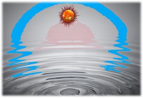 2太陽と波紋
