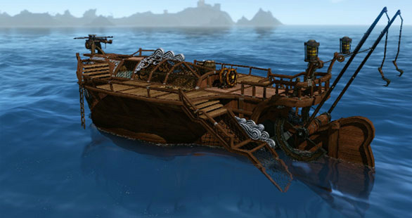 基本プレイ無料の自由系オンラインRPG、アーキエイジ、産み爽快に走る「フルムーンクルーザー」など人気の船舶が再登場したよ