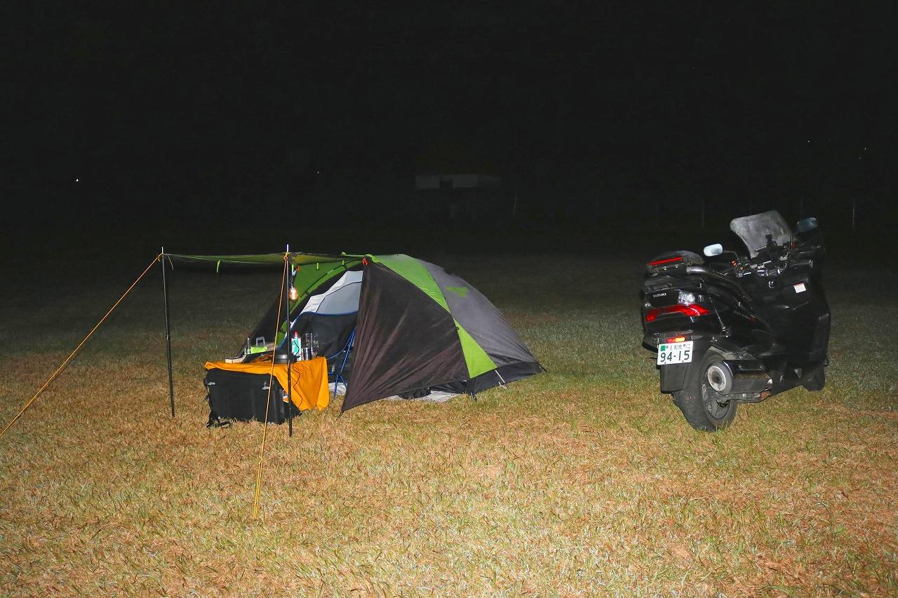 スカイウェイブで近場のキャンプツーリング(小船キャンプ場)