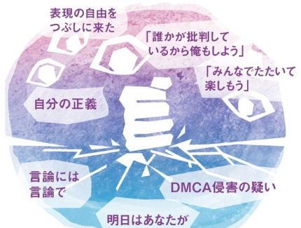 朝日新聞 「ネットでは、『過去の発言許さない』といつまでもネチネチと叩く。誰かをバッシングする事で達成感を得て『自分の正義』を確立する。明日はあなたが叩かれるかも」