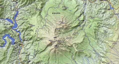 高原山【カシミール3D】