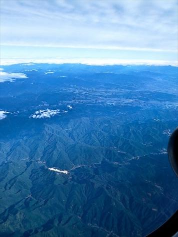 群馬県神流町上空【スカイマーク機より】