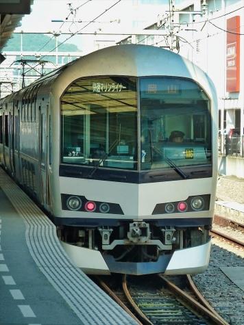 JR 瀬戸大橋線 5000系+223系 快速「マリンライナー」【高松駅】
