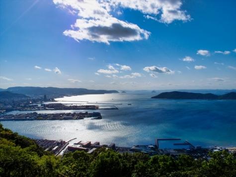 高松港【屋島からの眺望】