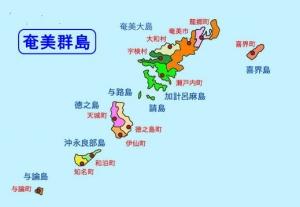 奄美群島地図