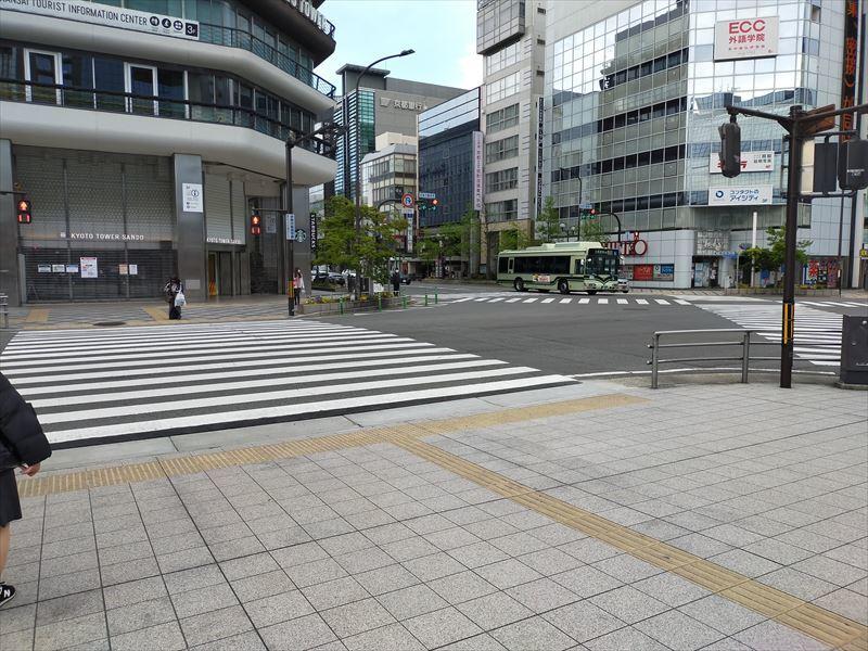 京都タワー前交差点