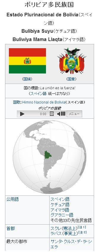 ボリビア多民族