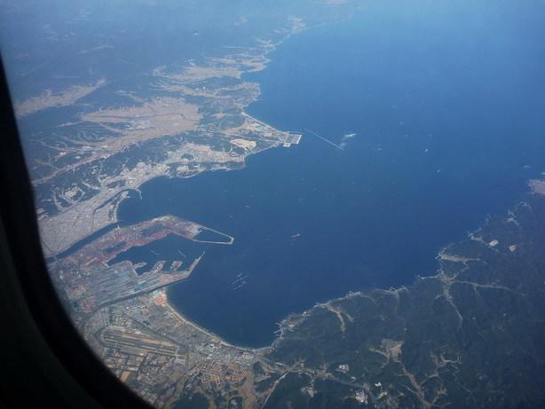 北京への機上 おそらく朝鮮半島_サイズ変更