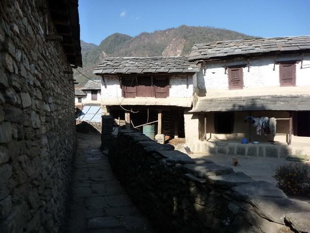 村の風景7 Ghandruk_サイズ変更