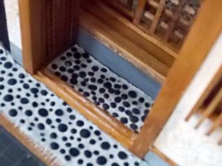 玄関障子の敷居4