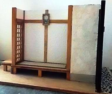 和室に柱時計