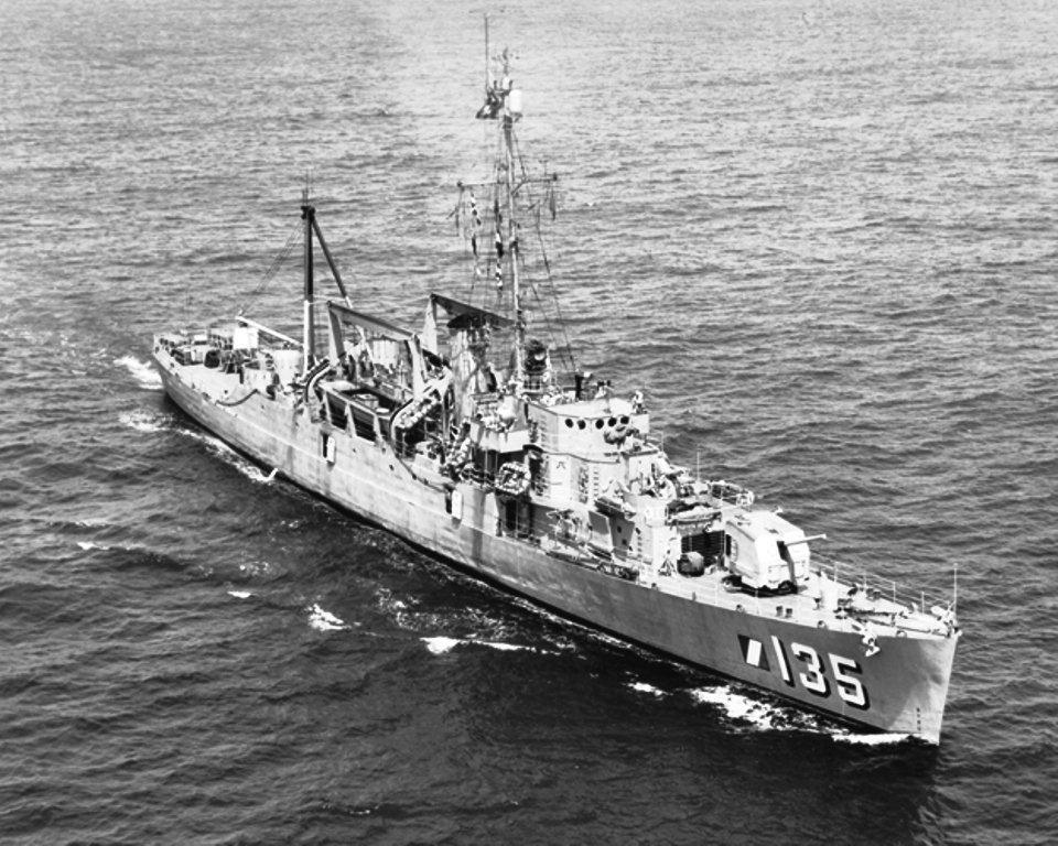 USS_Weiss_(APD-135)_underway,_circa_in_1950s