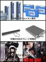 中国BYD社のブレード型リチウムイオン電池 blade battery