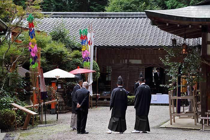 夜支布山口神社 秋祭り1
