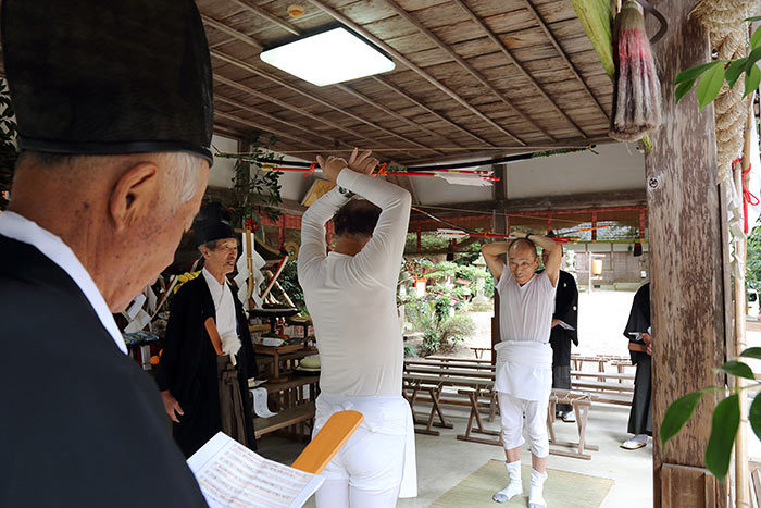夜支布山口神社 秋祭り11