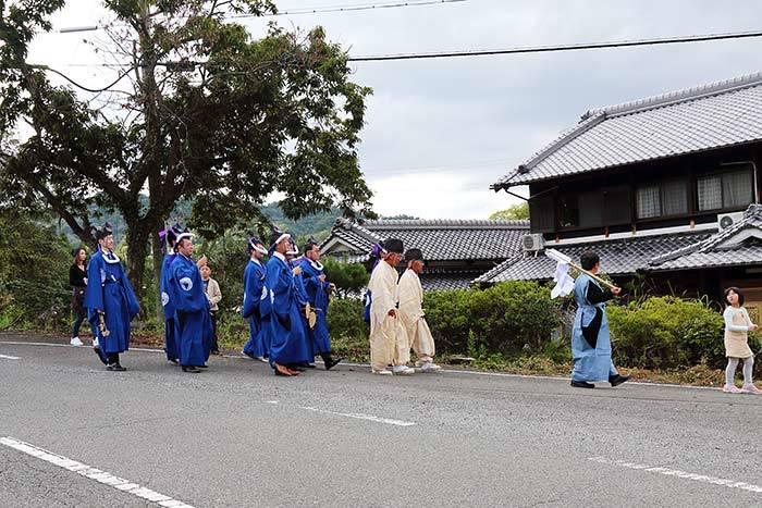 夜支布山口神社 秋祭り4