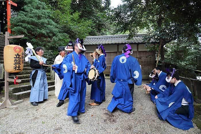 夜支布山口神社 秋祭り6