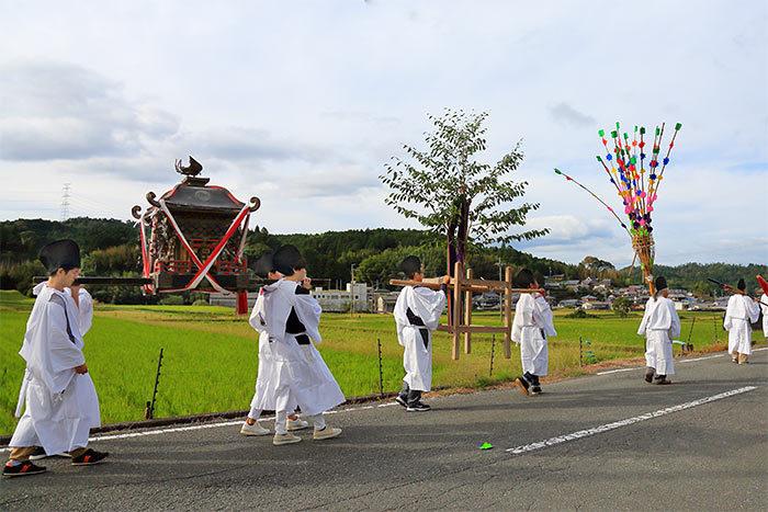 夜支布山口神社 秋祭り8